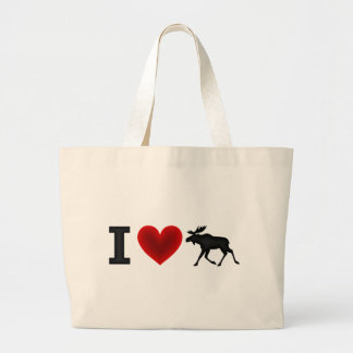 I Love Moose Large Tote Bag