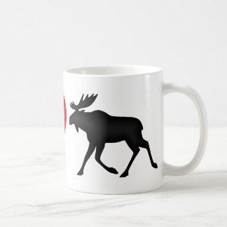I Love Moose Coffee Mug