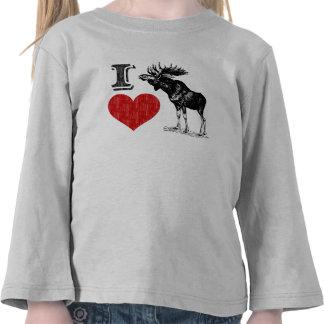 I Love Moose T-shirt