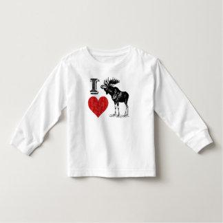 I Love Moose T Shirt
