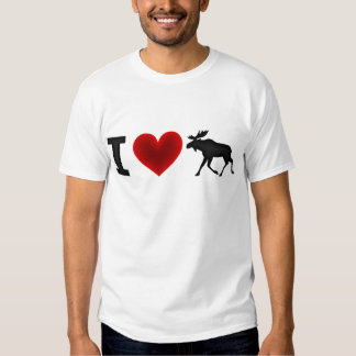 I Love Moose Tee Shirt