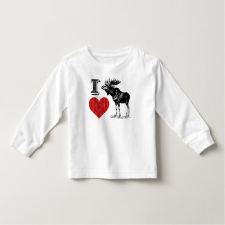 I Love Moose Toddler T-shirt