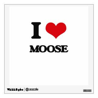 I Love Moose Wall Decal