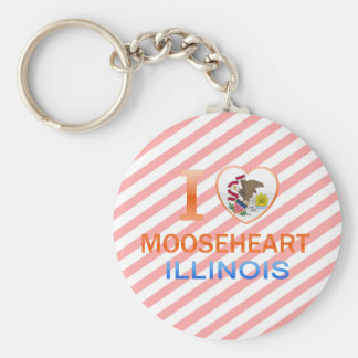 I Love Mooseheart IL Key Chain