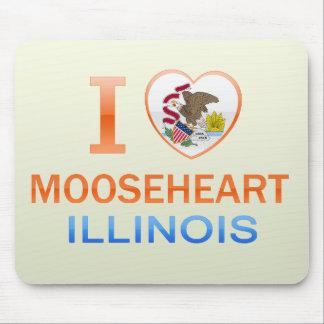 I Love Mooseheart IL Mousepads