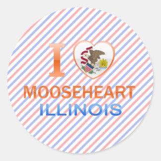 I Love Mooseheart IL Round Sticker