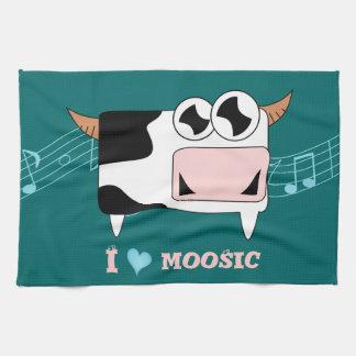 I Love Moosic Hand Towel
