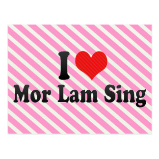 I Love Mor Lam Sing Postcards