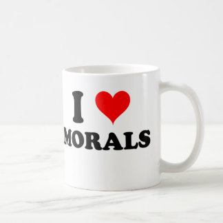 I Love Morals Coffee Mug