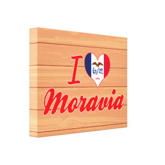 I Love Moravia, Iowa Gallery Wrapped Canvas
