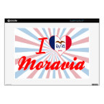 """I Love Moravia, Iowa Decals For 15"""" Laptops"""
