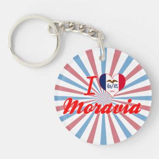 I Love Moravia, Iowa Key Chain