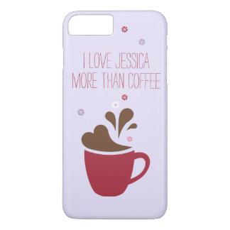 I love _____ more than coffee, purple. iPhone 8 plus/7 plus case