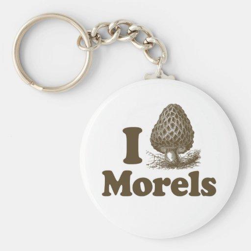 I Love Morels Basic Round Button Keychain