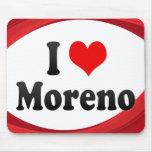 I Love Moreno, Brazil. Eu Amo O Moreno, Brazil Mousepad