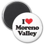 I Love Moreno Valley Refrigerator Magnets