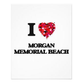 "I love Morgan Memorial Beach New York 4.5"" X 5.6"" Flyer"