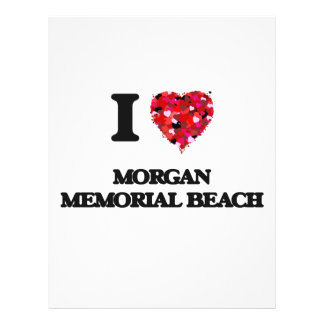 "I love Morgan Memorial Beach New York 8.5"" X 11"" Flyer"