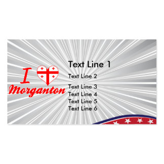 I Love Morganton, Georgia Double-Sided Standard Business Cards (Pack Of 100)