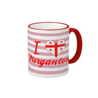 I Love Morganton, Georgia Ringer Coffee Mug