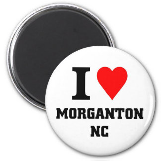 I love morganton NC 2 Inch Round Magnet