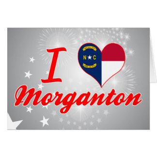 I Love Morganton, North Carolina Greeting Card