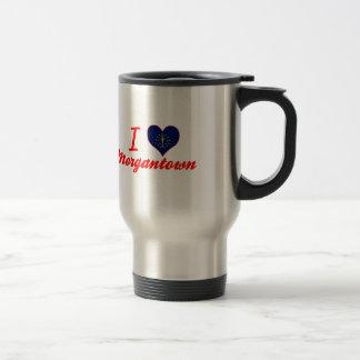 I Love Morgantown, Indiana 15 Oz Stainless Steel Travel Mug