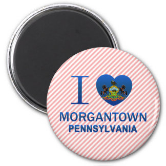 I Love Morgantown, PA Fridge Magnet
