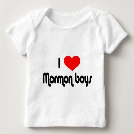 I Love Mormon Boys Baby T-Shirt