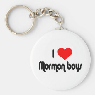 I Love Mormon Boys Basic Round Button Keychain