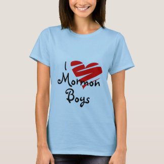 I Love Mormon Boys, lds, mormon, church, gift, T-Shirt