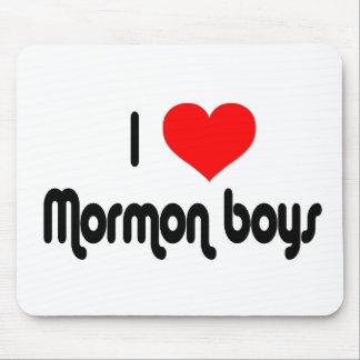 I Love Mormon Boys Mousepads