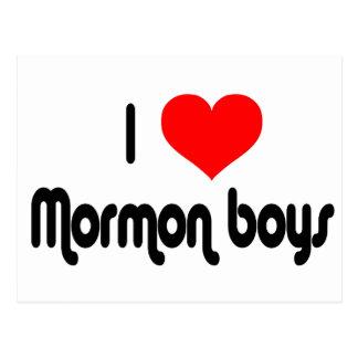 I Love Mormon Boys Postcard