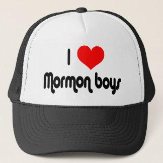 I Love Mormon Boys Trucker Hat