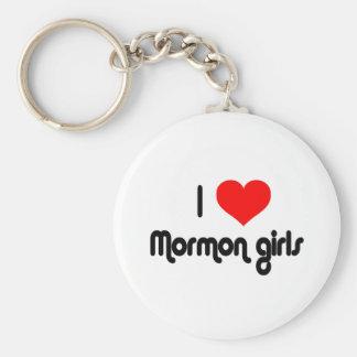 I love Mormon girls Basic Round Button Keychain