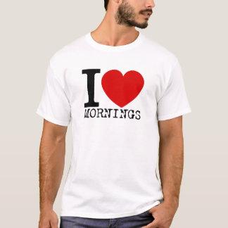 I Love Mornings (Black) T-Shirt