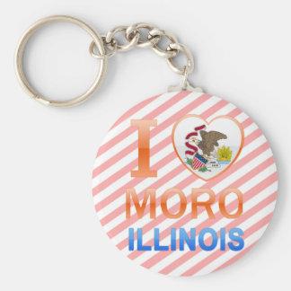 I Love Moro, IL Keychains