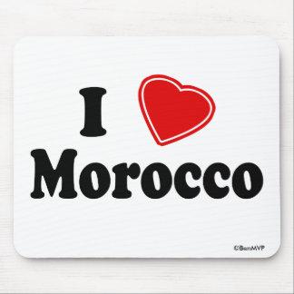 I Love Morocco Mouse Pad