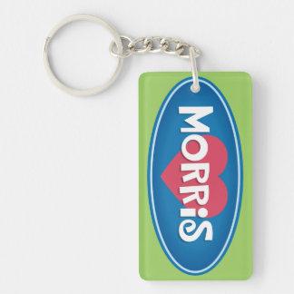 I Love MORRIS Personalized Keychain