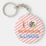 I Love Morrison, IL Key Chains