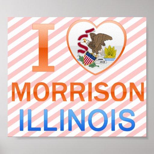 I Love Morrison, IL Poster