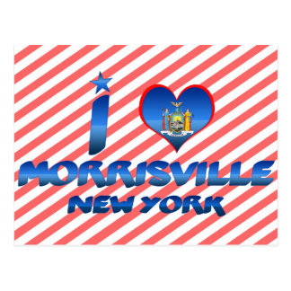 I love Morrisville, New York Postcard