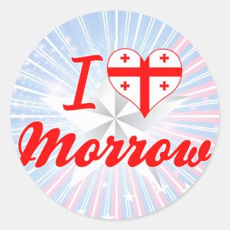 I Love Morrow, Georgia Sticker