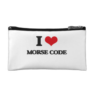 I Love Morse Code Cosmetic Bag