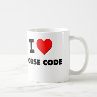 I Love Morse Code Coffee Mug