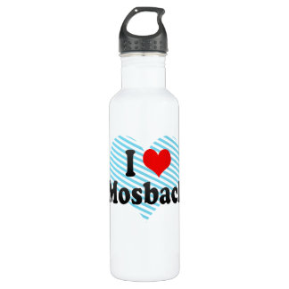 I Love Mosbach, Germany Water Bottle