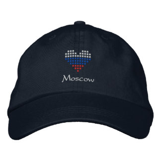 I Love Moscow Cap - Russian Heart Flag Hat Embroidered Hat