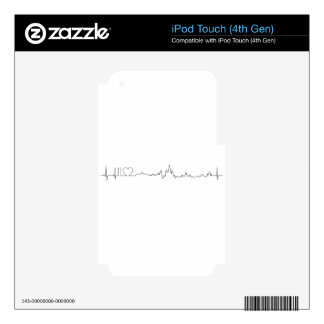 I love Moscow ecg style souvenir iPod Touch 4G Skins
