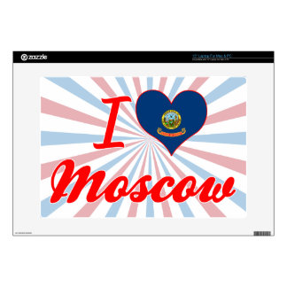 """I Love Moscow, Idaho Decals For 15"""" Laptops"""