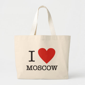 I love Moscow Large Tote Bag